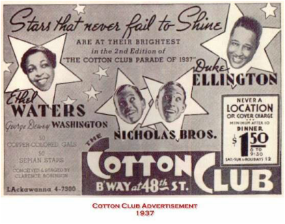 The Cotton Club was still oppressive even though it was located in Harlem which was populated with majority blacks. The club attracted a crowd of rich ...  sc 1 st  New York City Culture & Cotton Club - New York City Culture